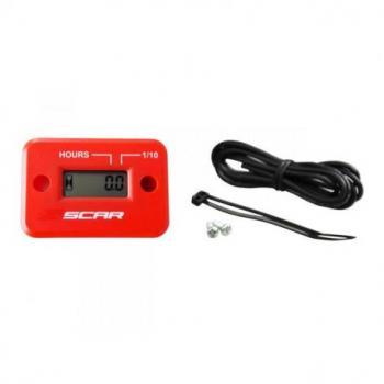 Compteur d'heures SCAR filaire avec Velcro rouge