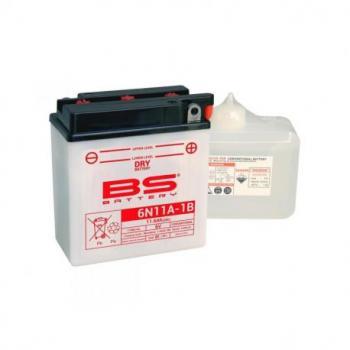 Batterie BS BATTERY 6N11A-1B conventionnelle livrée avec pack acide