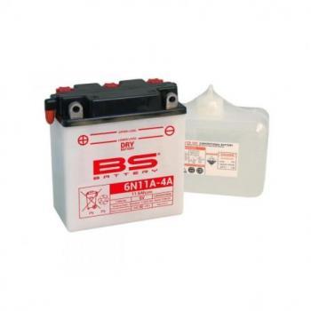 Batterie BS BATTERY 6N11A-4 conventionnelle livrée avec pack acide
