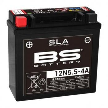 Batterie BS BATTERY 12N5.5-4A SLA sans entretien activée usine