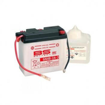 Batterie BS BATTERY 6N4B-2A-3 conventionnelle livrée avec pack acide