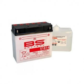 Batterie BS BATTERY 51814 conventionnelle livrée avec pack acide