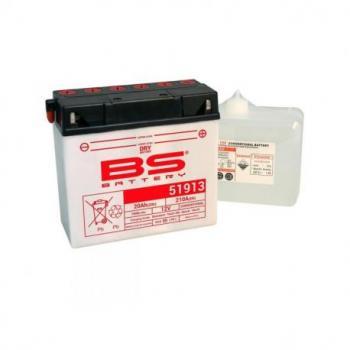 Batterie BS BATTERY 51913 conventionnelle livrée avec pack acide