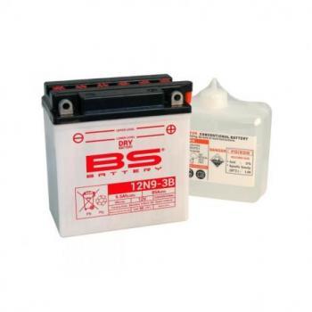Batterie BS BATTERY 12N9-3B conventionnelle livrée avec pack acide