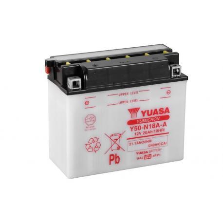 Batterie YUASA Y50-N18A-A conventionnelle