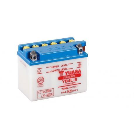 Batterie YUASA YB4L-B conventionnelle livrée avec pack acide