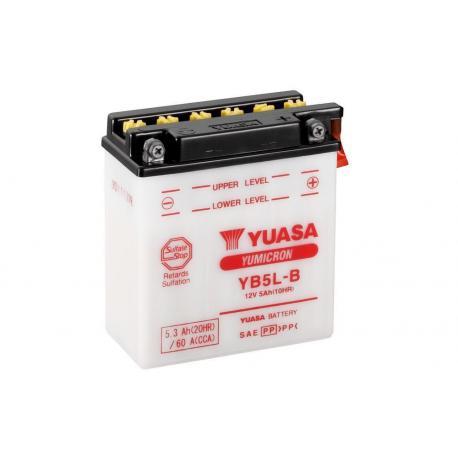 Batterie YUASA YB5L-B conventionnelle livrée avec pack acide