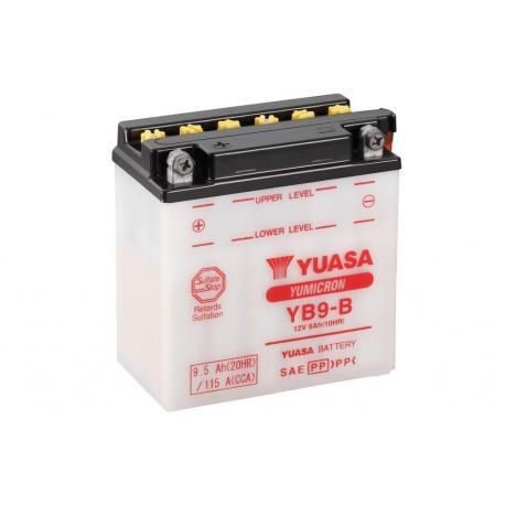 Batterie YUASA YB9-B conventionnelle livrée avec pack acide