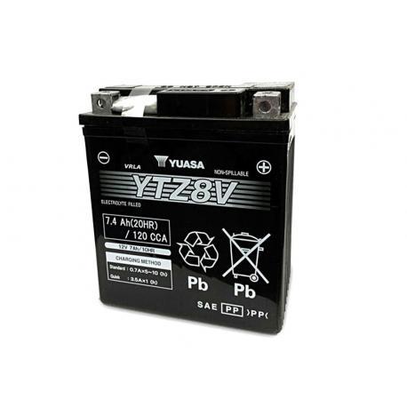 Batterie YUASA YTZ8V sans entretien activée usine