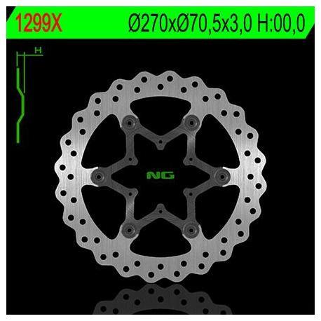 Disque de frein avant NG 1299XB pétale fixe TM