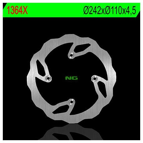 Disque de frein NG 1364X pétale fixe