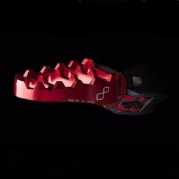 Repose-pied rabattable Rouge FTR566 - FTR566ROS