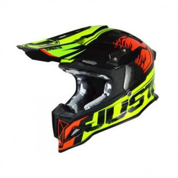 Casque JUST1 J12 Dominator Red/Neon Lime taille XS