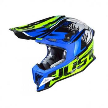 Casque JUST1 J12 Dominator Blue/Neon Yellow taille M