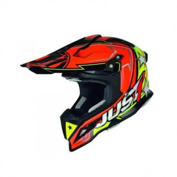 Casque Just1 J12 Aster orange/jaune taille L