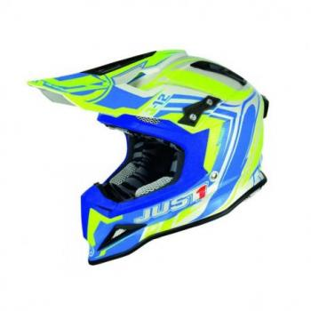 Casque JUST1 J12 Flame Yellow/Blue taille L