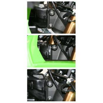 Protections de butée de direction R&G RACING noir Kawasaki ZX-6R/10R