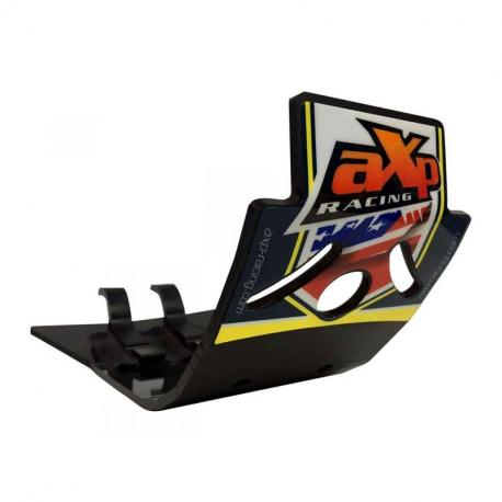 Semelle MX AXP Anaheim PHD noir/déco bleu-jaune Husqvarna TC125