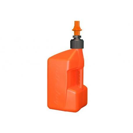 Bidon d'essence TUFF JUG 20L orange translucide/bouchon orange - bouchon remplissage rapide