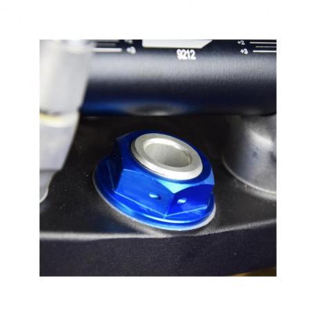 Ecrou de colonne de direction SCAR bleu Yamaha YZ80/85