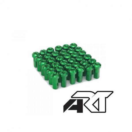 Kit têtes de rayon universel anodisées A.R.T vert