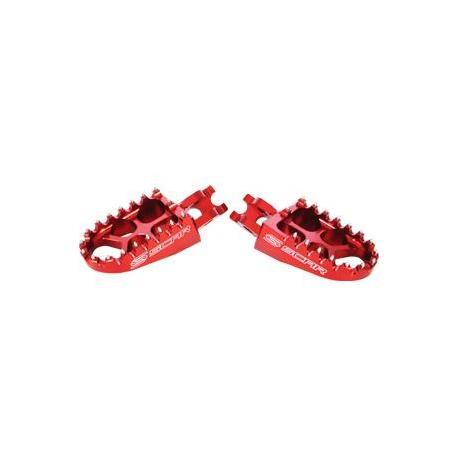 Repose-pieds SCAR Evo rouge Suzuki RM85