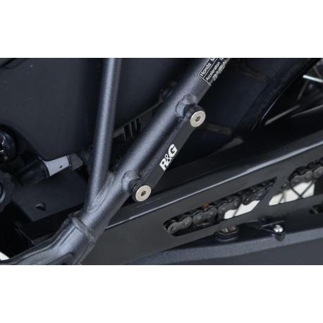 Cache orifice repose-pieds R&G RACING noir Honda CRF1000L Africa Twin