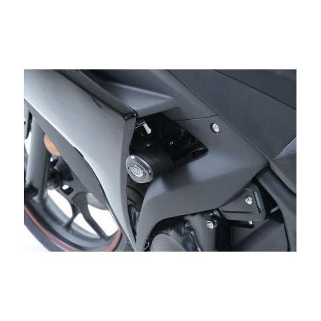 Tampons de protections R&G RACING Aero Race version noir Yamaha YZF-R3