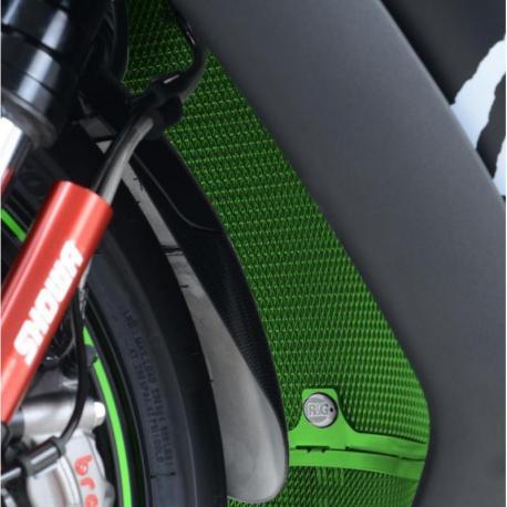 Protection de radiateur R&G RACING vert Kawasaki ZX-10R