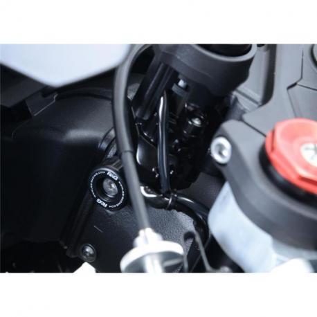 Protections de butée de direction R&G RACING noir Kawasaki ZX-10R