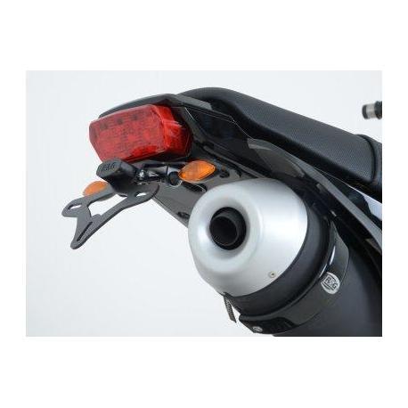 Support de plaque R&G RACING noir pour micro clignotants Honda MSX125