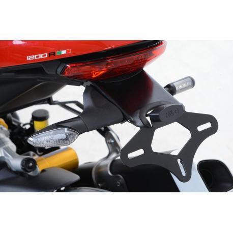 Support de plaque R&G RACING noir Ducati Monster 1200R