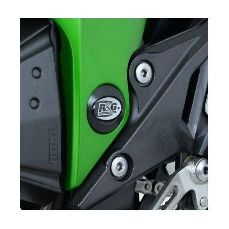 Insert de cadre gauche (bas) R&G RACING noir Kawasaki Z300
