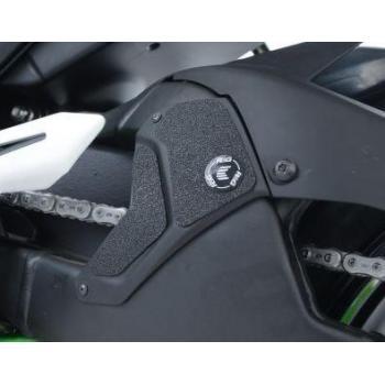 Adhésif anti-frottement R&G RACING bras oscillant/protection silencieux noir 3 pièces Kawasaki H2/H2