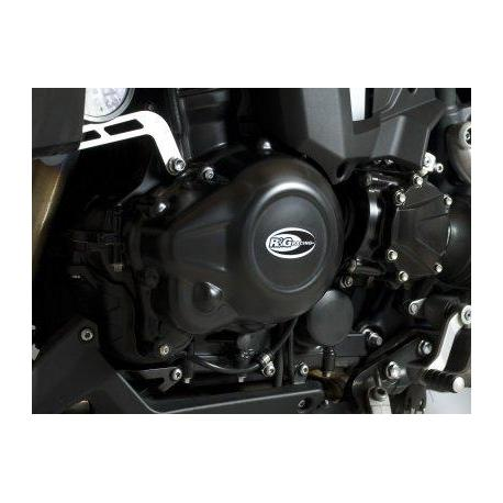 Couvre-carter gauche R&G RACING noir Triumph Tiger 1200 Explorer