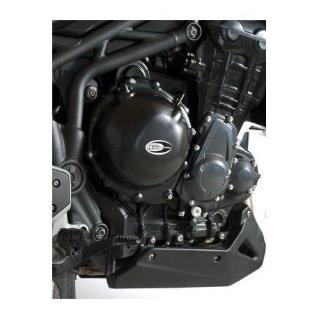 Couvre-carter droit R&G RACING noir Triumph Tiger 1200/Explorer