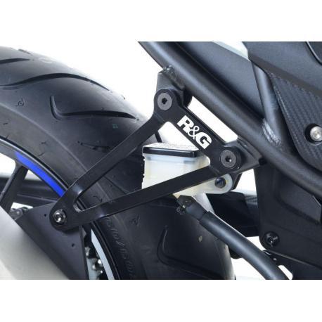 Patte fixation de silencieux R&G RACING noir Honda CBR500R