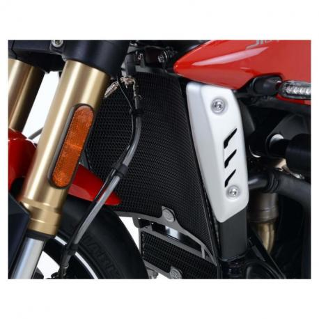 Protection de radiateur R&G RACING alu noir Triumph Speed Triple 1050 R