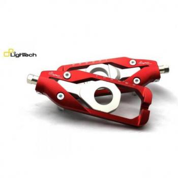 Tendeur de chaine LIGHTECH rouge Kawasaki ZX10R - TEKA003ROS
