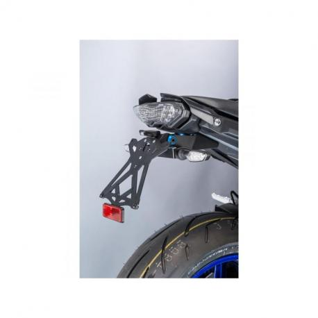 Support de plaque réglable LIGHTECH noir Yamaha MT-10 - TARYA121
