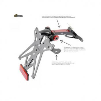 Support de plaque LIGHTECH réglable rouge Ducati Panigale V4