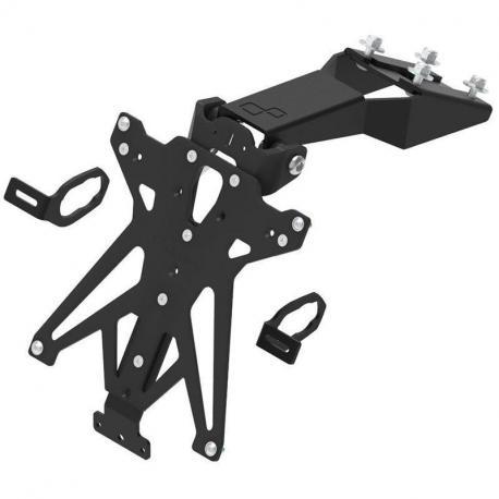 Support de plaque LIGHTECH reglable noir Kawasaki Z650 - TARKA122