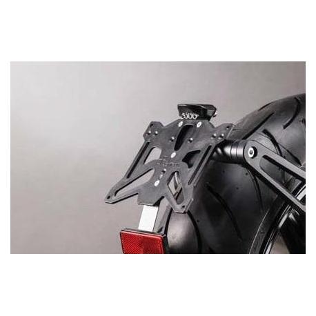 Support de plaque réglable LIGHTECH noir BMW R Nine T