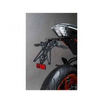 Support de plaque réglable LIGHTECH noir KTM 390 Duke