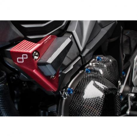 Tampon de protection LIGHTECH rouge Kawasaki Z800 - STEKA112ROS