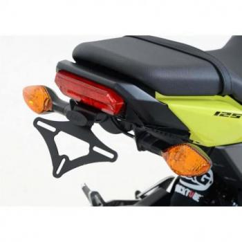 Support de plaque R&G RACING noir compatible clignotants origine Honda MSX125