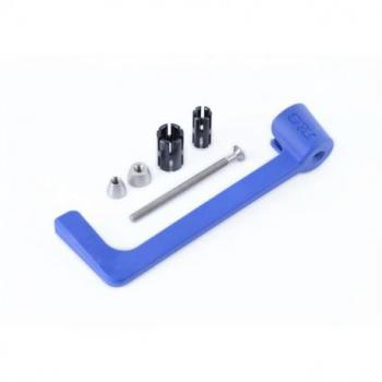 Protection de levier R&G RACING nylon bleu Suzuki GSX-R600/R750/R1000/S1000/S1000F