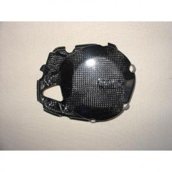 Couvre carter embrayage LIGHTECH carbone brillant Aprilia Rsv4