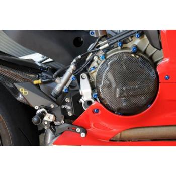 Couvre carter embrayage LIGHTECH carbone brillant Ducati Panigale