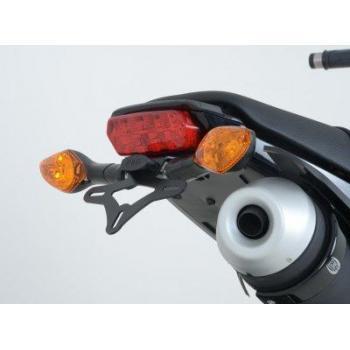 Support de plaque R&G RACING noir pour clignotants origine Honda MSX125